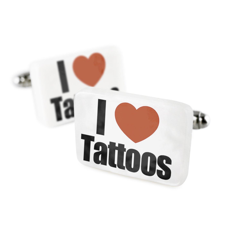 Gemelos I Love tatuajes porcelana cerámica Neonblond: Amazon.es ...