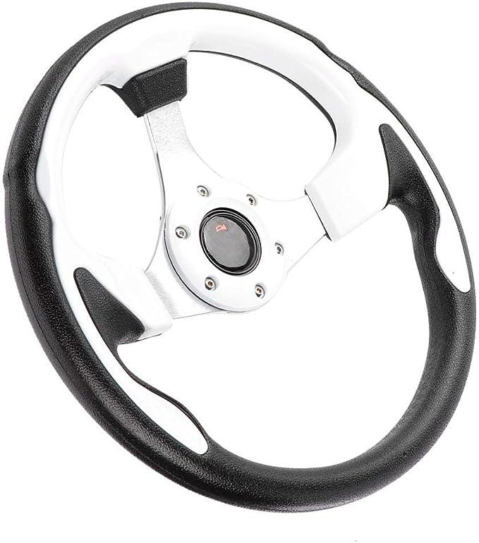 320mm//12.5in Voiture de course /à la d/érive Volant en aluminium sport avec bouton de klaxon PVC Couleur rouge Accessoire de pi/èce modifi/ée universelle pour la plupart des v/éhicules Volant