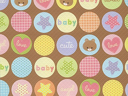 Pack of 1, Dots Cute Baby 26'' x 417' Half Ream Roll Gift Wrap for Holiday, Party, Kids' Birthday, Wedding & Special Occasion Packaging by Generic