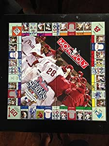 2008 Phillies Monopoly Collectors Edition Board Game Signed by All 34 Players and Coaches