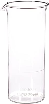 BonJour Coffee Caffé Froth Replacement Frother Glass Carafe, 15-Ounce