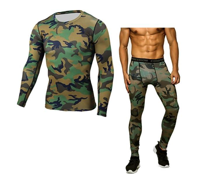 Ropa de Deporte para Hombres - Camiseta y pantalón de Manga Larga ...