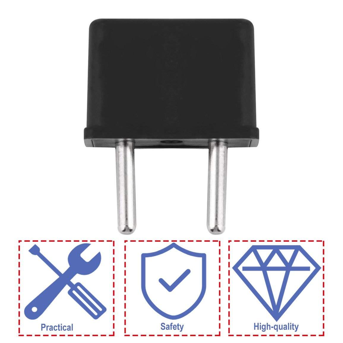 A la UE Enchufe EE Color: Negro A Europa 220 V de Viaje Pared Blanca Cargador de Corriente alterna Adaptador de Salida Convertidor 2 Pin de Enchufe Redondo Universal EE UU UU