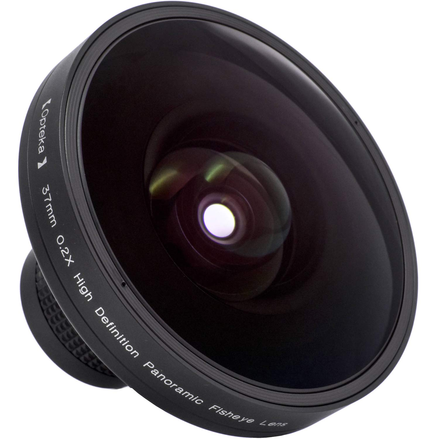 Opteka Platinum Series 37mm 0.2X HD Large Panoramic Vortex Fisheye Lens for Video Cameras
