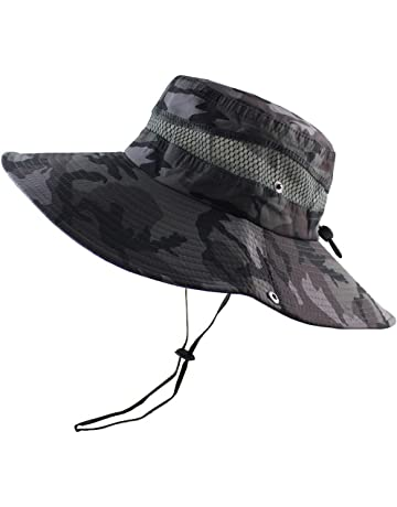 4d407f202f4cb CAMOLAND Breathable Wide Brim Boonie Hat Outdoor UPF 50+ Sun Protection  Mesh Safari Cap for