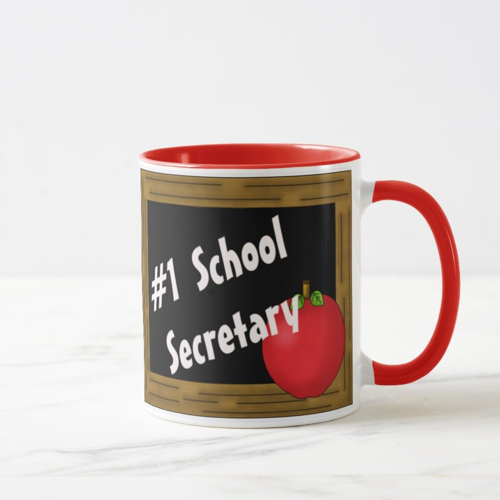 Zazzle # 1学校Secretaryマグ 11 oz, Combo Mug レッド dbbd1d03-6200-c275-2a34-da5b4a9f6997 B078GYJ5K7  レッド 11 oz, Combo Mug