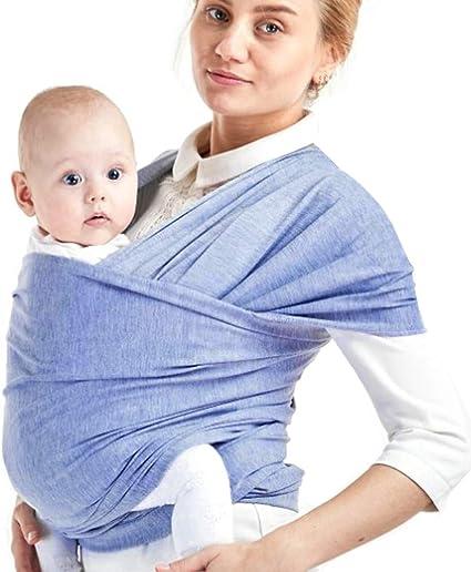 Gris Echarpe de Portage Bebe Coton Elastique Porte B/éb/é Confort Baby Wrap Carrier Echarpe pour B/éb/é et Nouveau-n/és Jusqu/à 15 kg