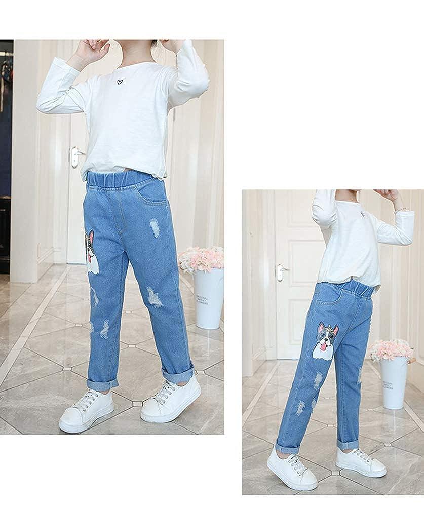 Amazon.com: Sitmptol - Pantalones vaqueros para niñas ...
