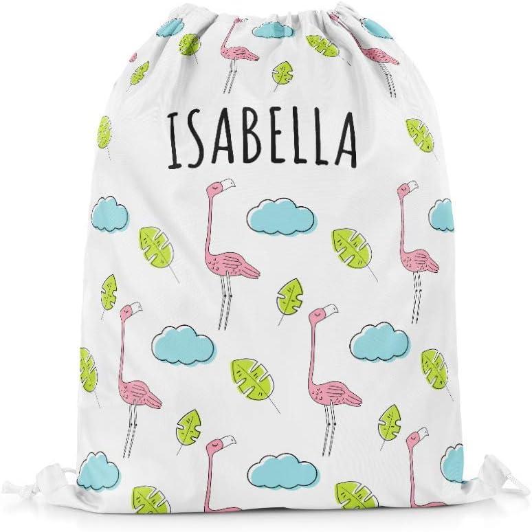 Kids Purple Personalised Swim Bag Drawstring Backpack PE Bag Any Name Embroidered