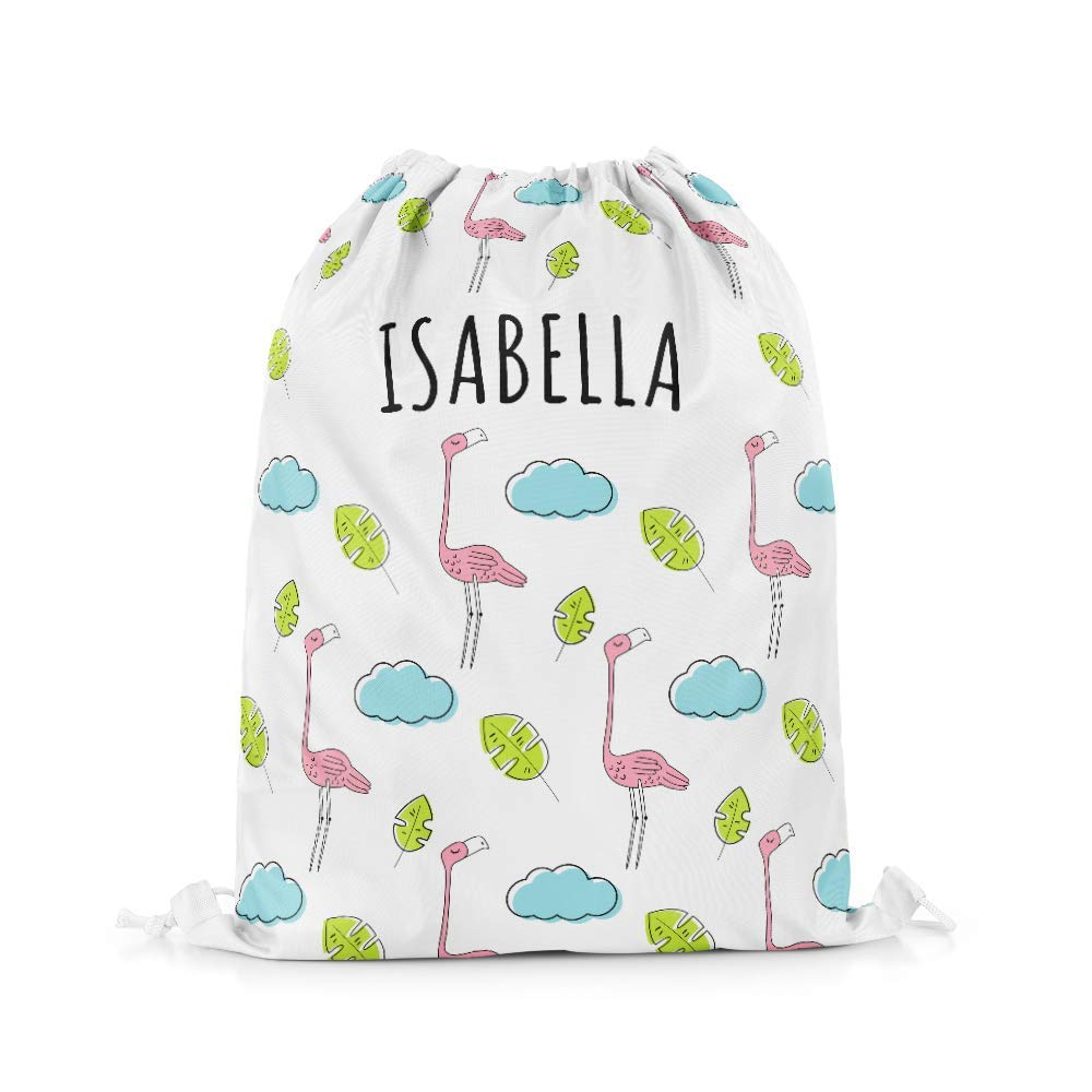 Personalised Sloth Girls Kids Drawstring Bag Pe Bag Swimming School Bag