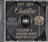 1977 1978 Cadillac Repair Shop Manual and Body Manual on CD-ROM