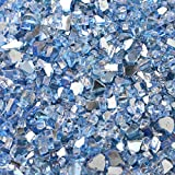 Stanbroil 10-Pound Fireplace Glass and Fire Pit Glass, Pacific Blue Mixed with Reflective, 1/4-Inch