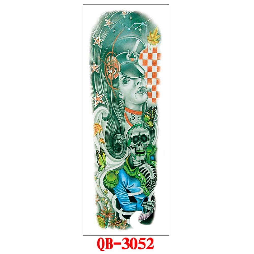 tzxdbh 3PCs - Etiqueta engomada del Tatuaje del Brazo Completo ...