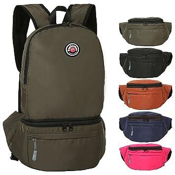 Amazon.com : Hiking Waterproof Backpack / Running Waist Pack 30l ...