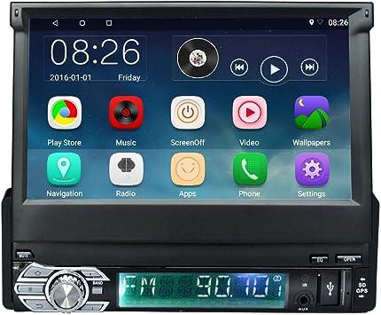 Podofo Radio para coche Android 6.0 1 Din Estéreo para coche con ...