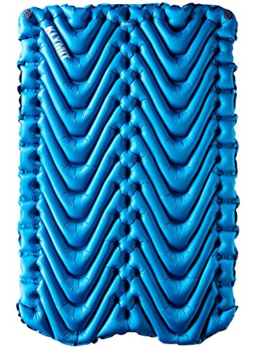 Klymit Double V Sleeping Pad, 2 Person, Double Wide (47 inches), Lightweight Comfort for Car Camping, Two Person Tents, Travel, and Backpacking (Best Backcountry Hunting Tent)