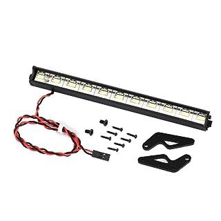Swiftswan Metal Roof Light Bar LED per 1/10 RC Modello di Auto da Arrampicata Traxxas HSP Redcat RC4WD Tamiya Axial Scx10 D90 HPI 313 Interasse Nero