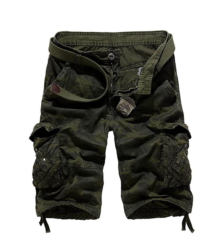 Tonwhar Fashion Men's Utility Camo Shorts short058