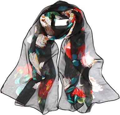 Chiffon Scarf Long /& Lightweight Sunscreen Shawls For Women Girls