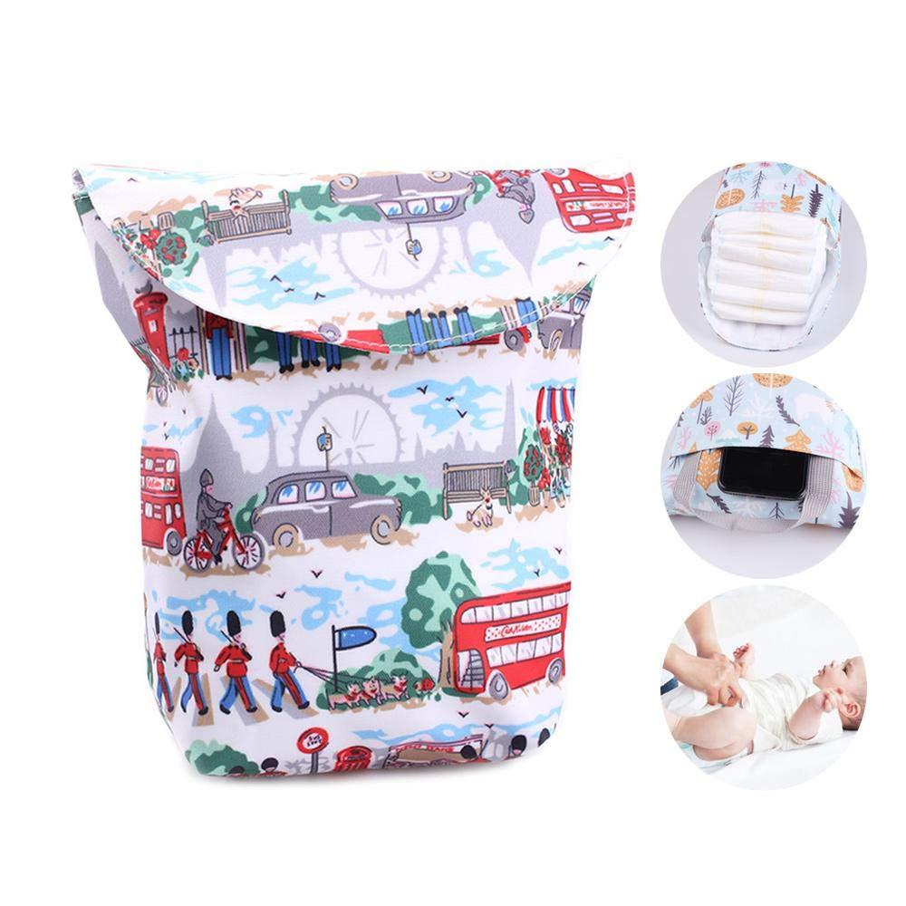 AOLVO Wickeltasche Organizer Mommy tragbare Windeltasche Baby Born Wickeltasche Multifunktionstuch Windeleimer Tasche waschbar und wiederverwendbar Beige Tower Style