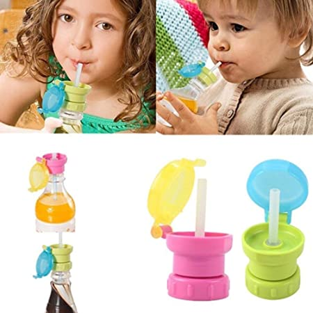 Water Drinking With Lid For Straw Flip Lids Cap Mouth Water Bottle With StraALUK
