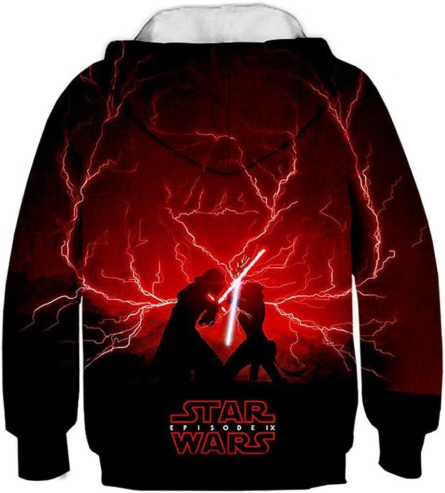 SAYM Teen Boys Galaxy Fleece Sweatshirts Pocket Pullover Hoodies 4-16Y