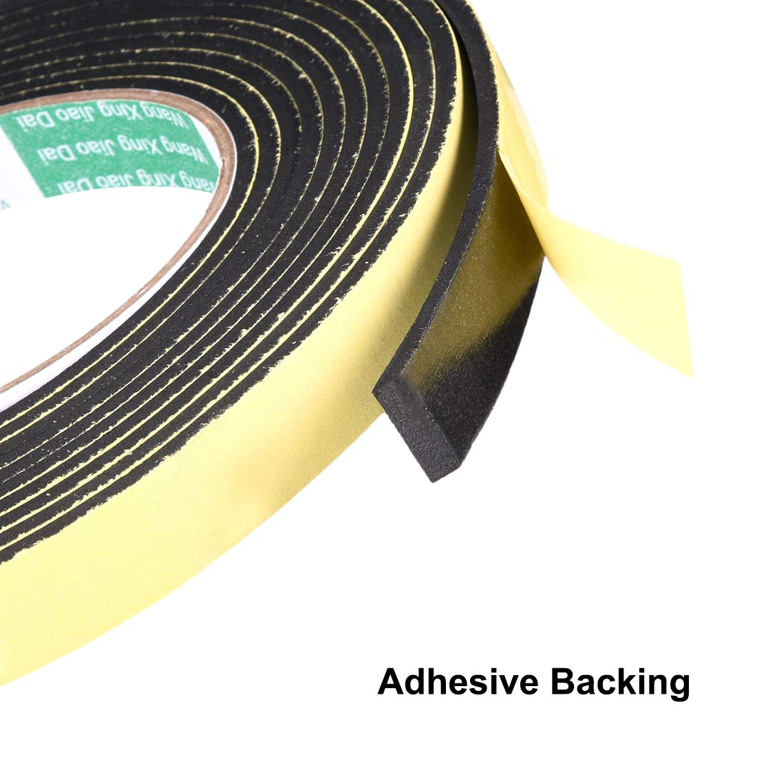 1mm de espesor de 16 4 pies de largo de burlete adhesivo sourcing map Cinta de sellado de espuma de 30 mm de ancho