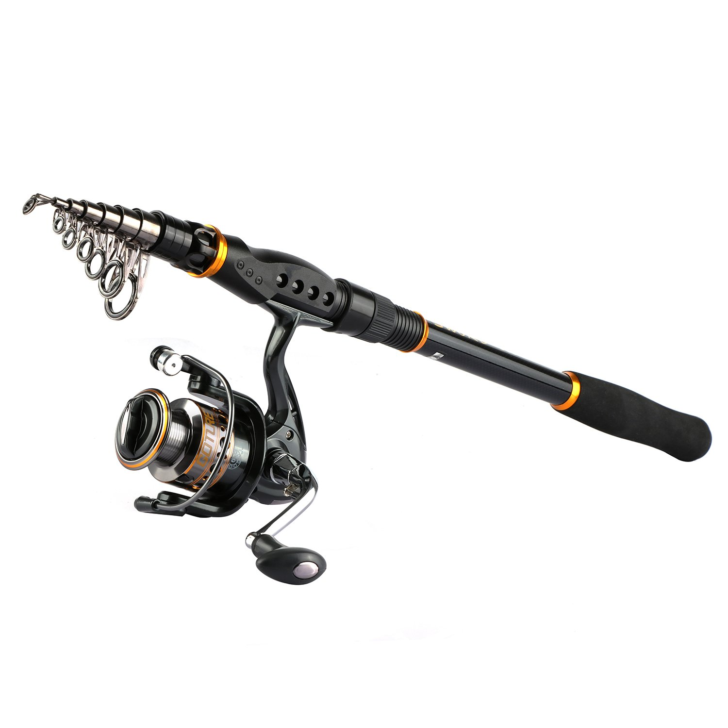 Goture Spinning Fishing Rod and Reel Combo for Bass Trout