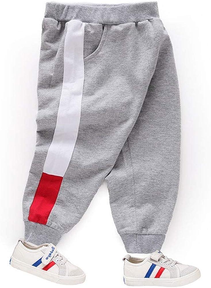 KAOKAOO Unisex Toddler Jogger Pants Kids Waist Casual Baby Sweatpants