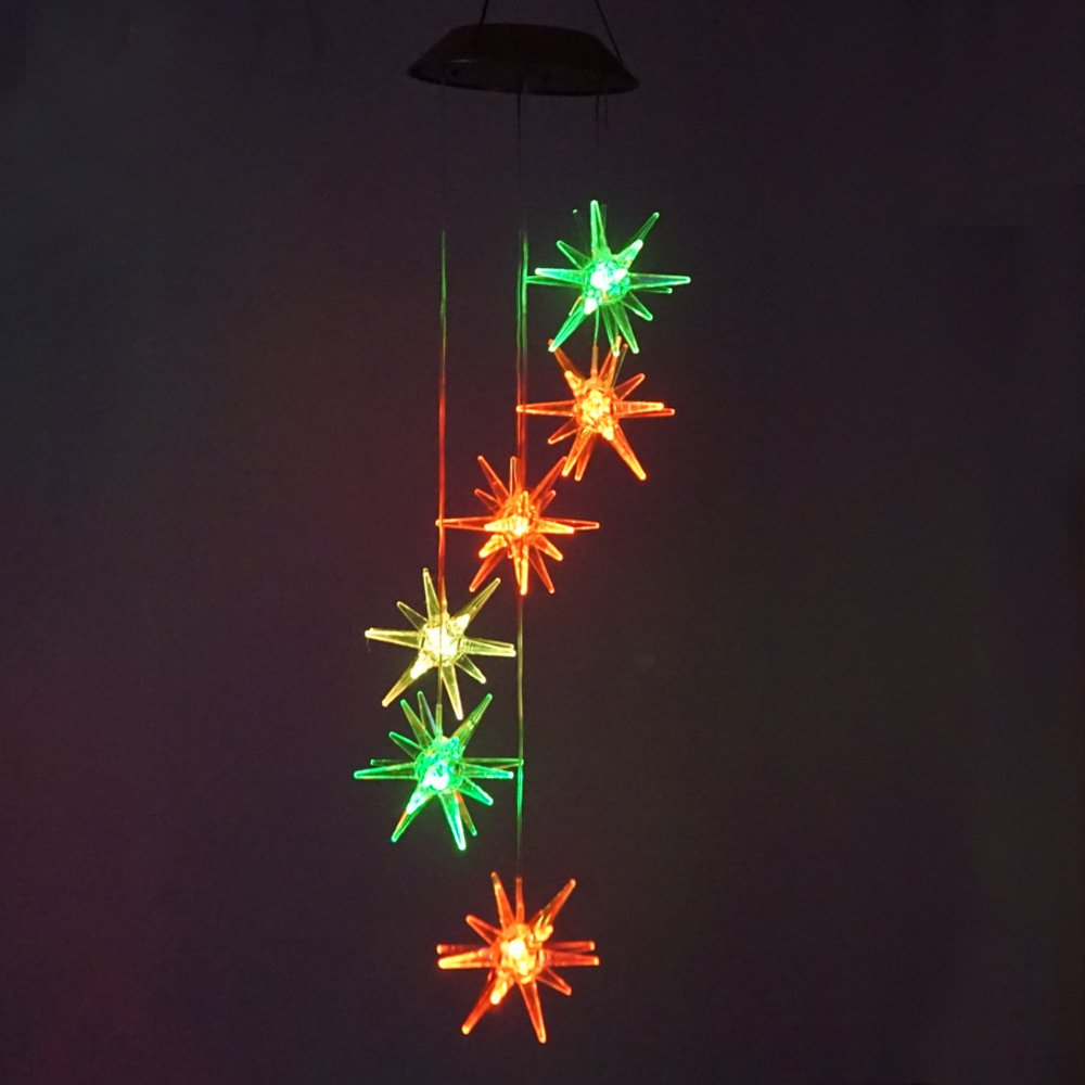 (Coors -Changing) Mobiles, - Four Three-dimensional Sea Urchin B01M67USKH Solar Wind Chime Night Light Mobiles, Four Constant Colours, For outdoor garden decor (Coors -Changing) B01M67USKH, SilverKYASYA:6cbc4054 --- artmozg.com
