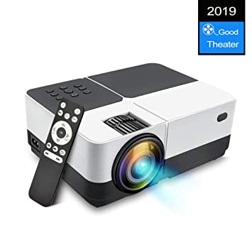 TOPRUI Mini Proyector Cine en Casa LCD 3000 LúMenes, Pantalla Grande Soporta1080P Full HD, Proyector PortáTil LED Home Cinema Soporte / USB / HDMI / ...