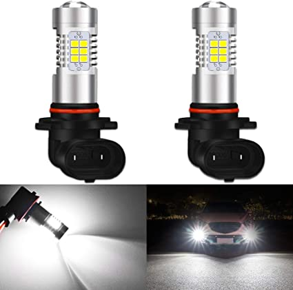 JDM ASTAR 2x 80W H10 9145 White High Power LED CREE Fog Lights Driving Bulbs DRL