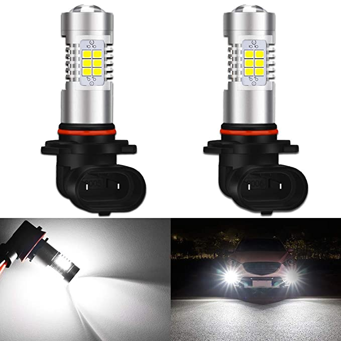 KaTur 9006 HB4 LED Fog Light Bulbs Max 80W High Power Super Bright 2000  Lumens 6500K Xenon White with Projector for Driving Daytime Running Lights  DRL