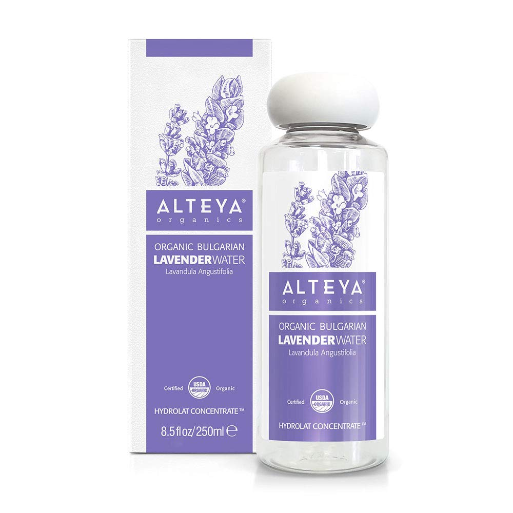 Alteya Organics Bulgarian Lavender Water - USDA Certified Organic, 250ml / 8.5 oz