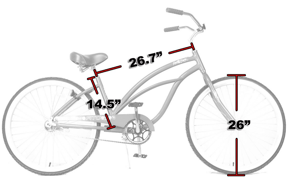 Fito Anti Rust Light Weight Aluminum Alloy Frame, Marina Single 1-Speed Women – Sky Blue, 26 Wheel Beach Cruiser Bike