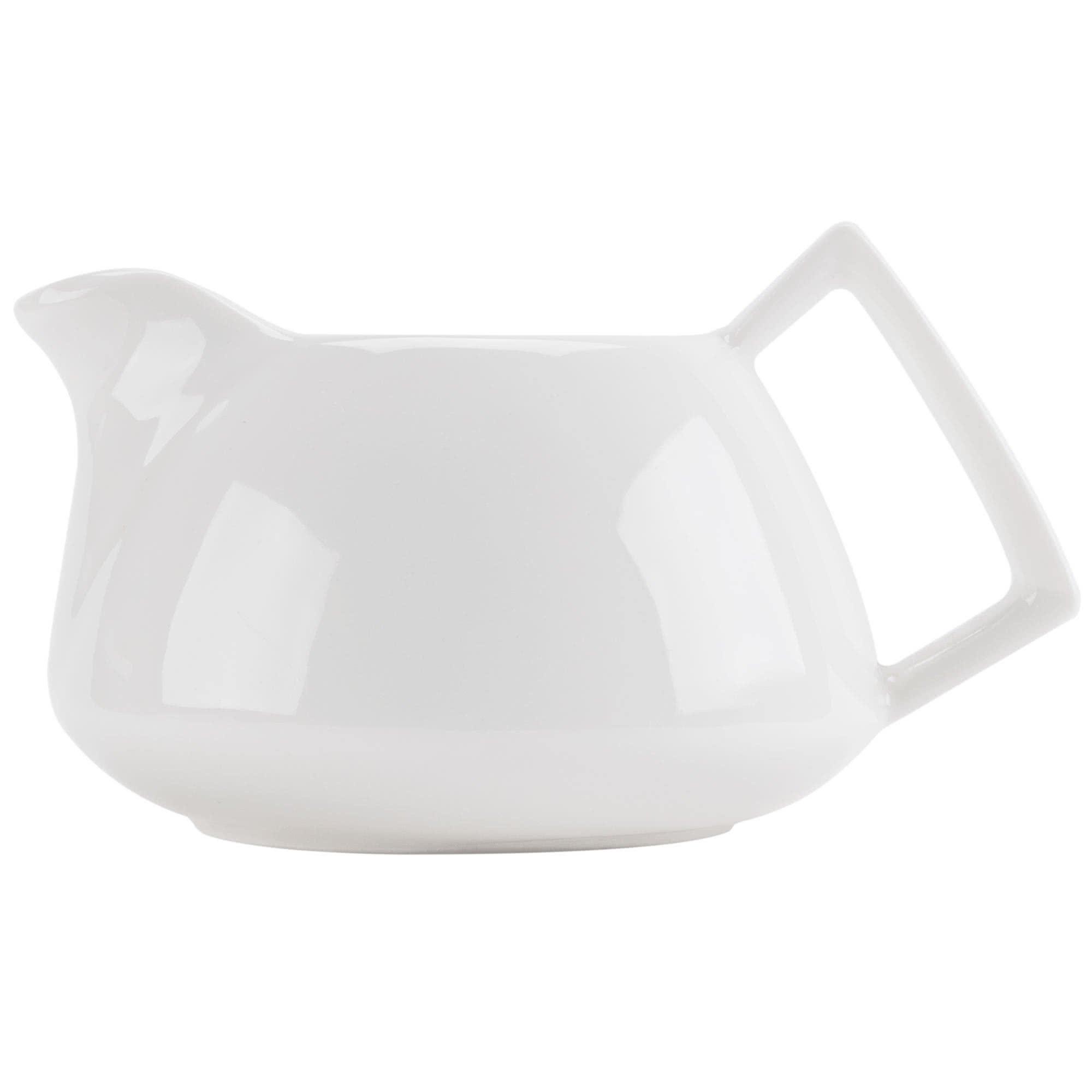 Tabletop King COL-PC Collection 8 oz. Bone White Porcelain Fashion Creamer - 36/Case