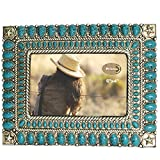 LL Home 12532 Star Turquoise Color 4'' x 6'' Photo Frame