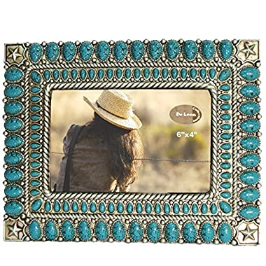LL Home 12532 Star Turquoise Color 4  x 6  Photo Frame