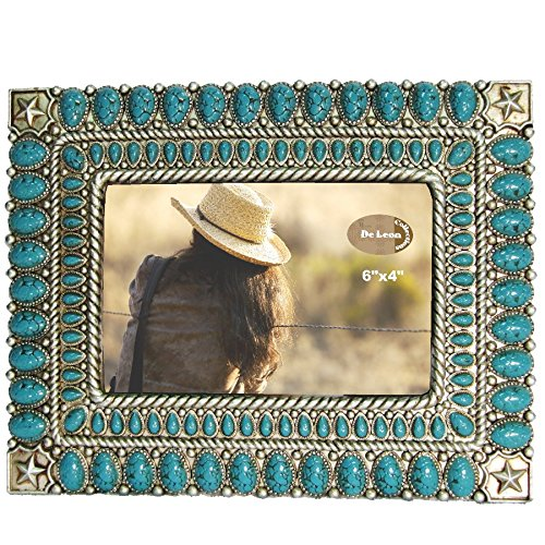 LL Home Star Turquoise Color 4X6 Photo Frame -