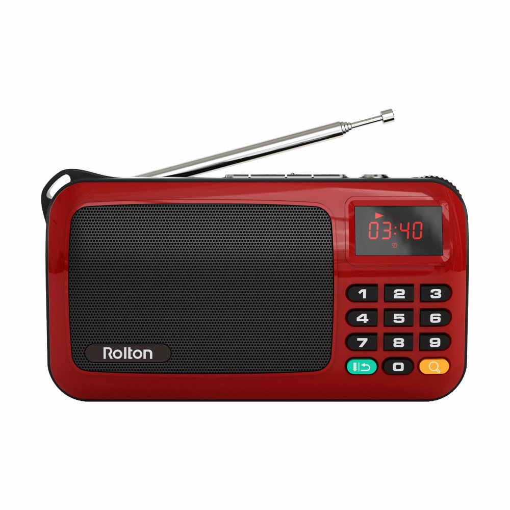 2169c2ebc81 Amazon.com  Rolton W405 Portable Mini FM Radio Speaker Music Player TF Card  For PC iPod Phone with LED Display (Red)  Cell Phones   Accessories