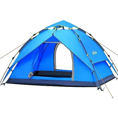 IREGRO Wurfzelt automatisches Campingzelt 3-4 Personen Familienzelt Tunnelzelt Kuppelzelt Sekundenzelt Schnellaufbau für Outd