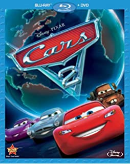 Cars 2 Two Disc Blu Ray DVD Combo In