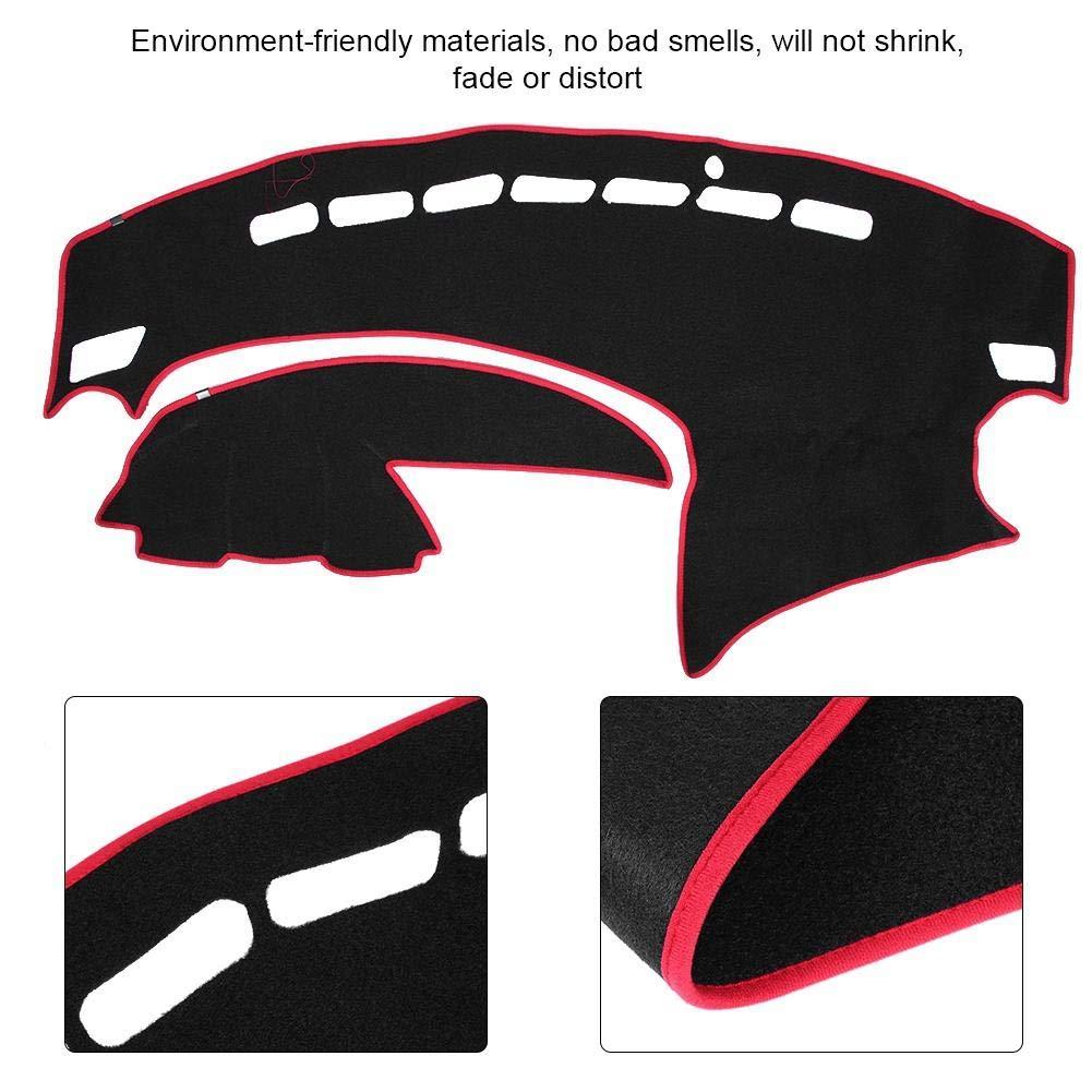 Fydun Car Dash Covers Dashboard Mat Sunshade Dashmat Black Fit for Mazda 3 2009-2013 Dash Cover Dashboard Cover Mat
