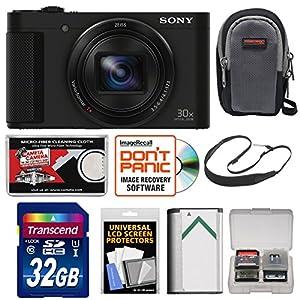 Sony Cyber-Shot DSC-HX90V Wi-Fi GPS Digital Camera with 32GB Card + Case + Battery + Sling Strap + Kit