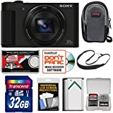 Sony Cyber-Shot DSC-HX90V Wi-Fi GPS Digital Camera with 32GB Card + Case + Battery + Sling Strap + Kit