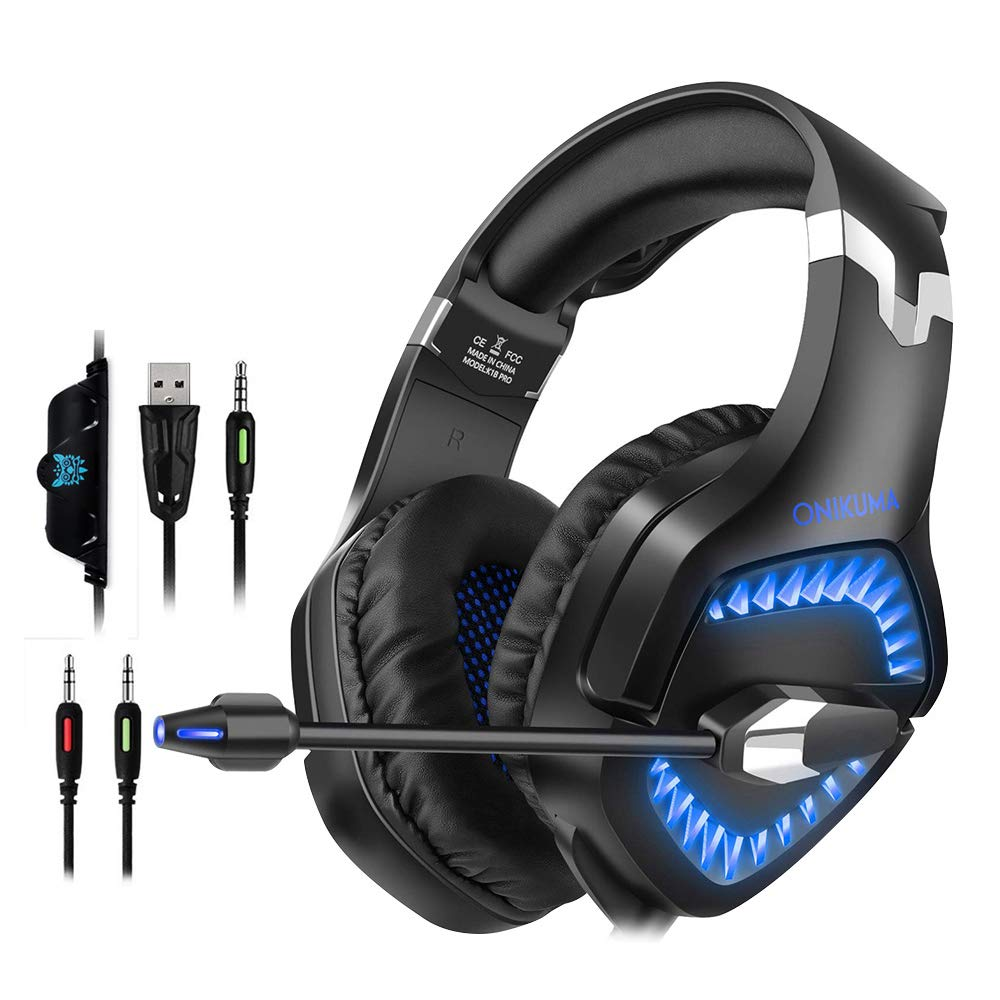 Gaming Headset for PS4 Xbox One PC, ONIKUMA Over Ear: Amazon