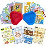 Set of 4 Classic Children's Card Games with 2 Hands-Free Playing Card Holders by Imagination Generation