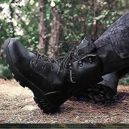 N//A Men Impermeable y Antideslizante Camuflaje t/áctico Botas del ej/ército Escalada Militar Selva Caza Que acampa del Desierto Botas Botas Patrulla del Top del Alto de Combate