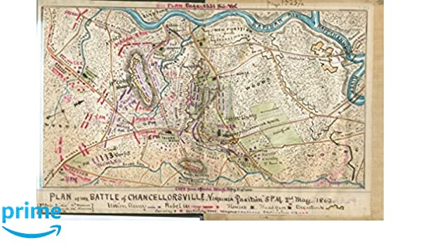 24x36 Vintage Reproduction Civil War Chancellorsville 3 Maps in one 1863