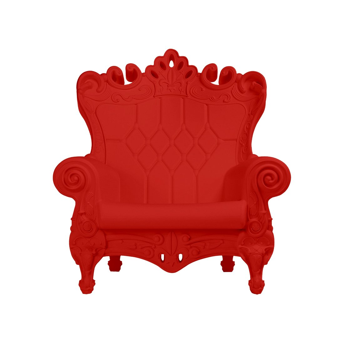 Design of Love - Slide Design - Little Queen of Love Baby armchair Flame Red (Original made in Italy)